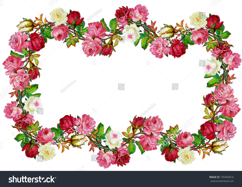 Vintage Rose Frame Stockfoto (Lizenzfrei) 135403616 – Shutterstock