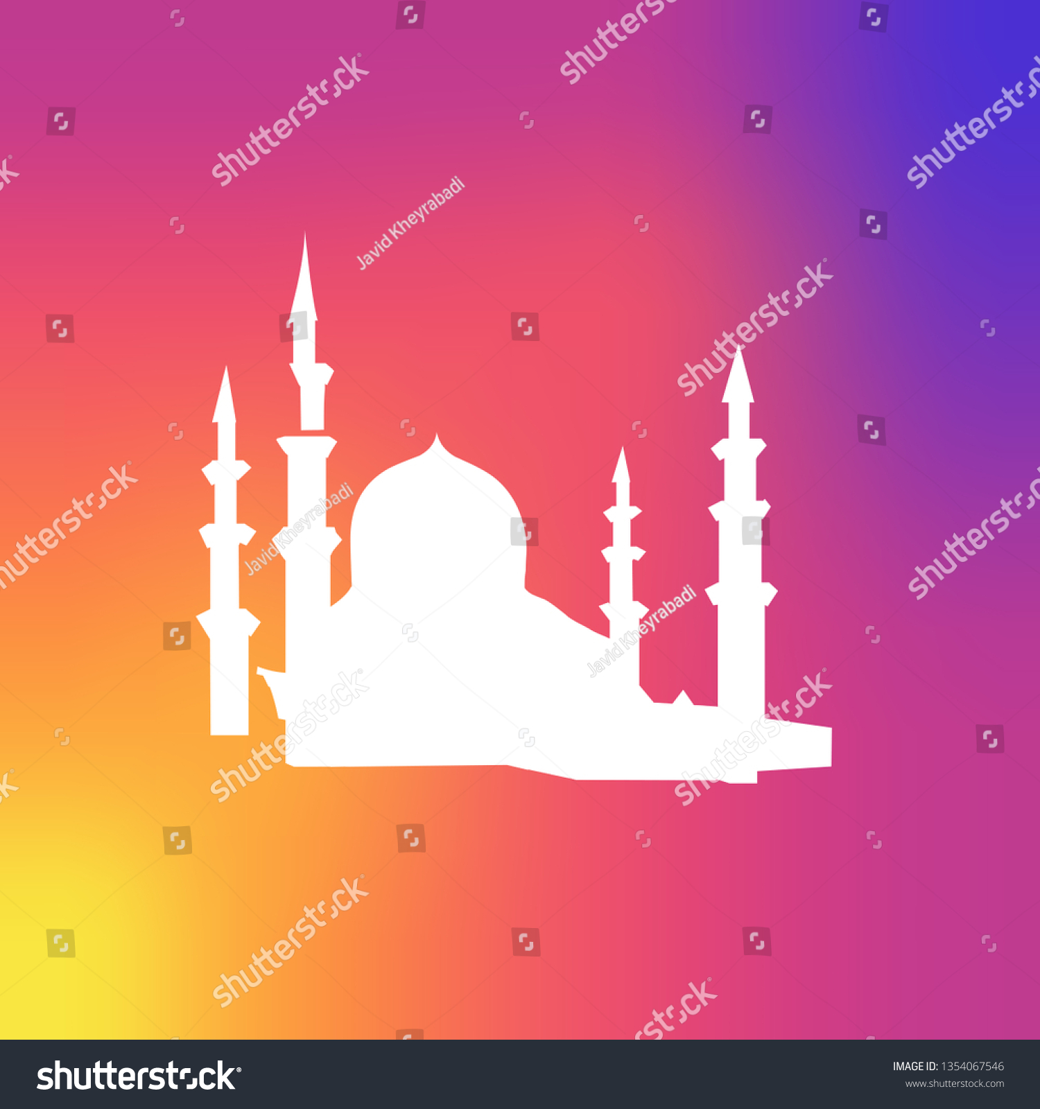 mosque icon islam icon stock vector royalty free 1354067546 shutterstock