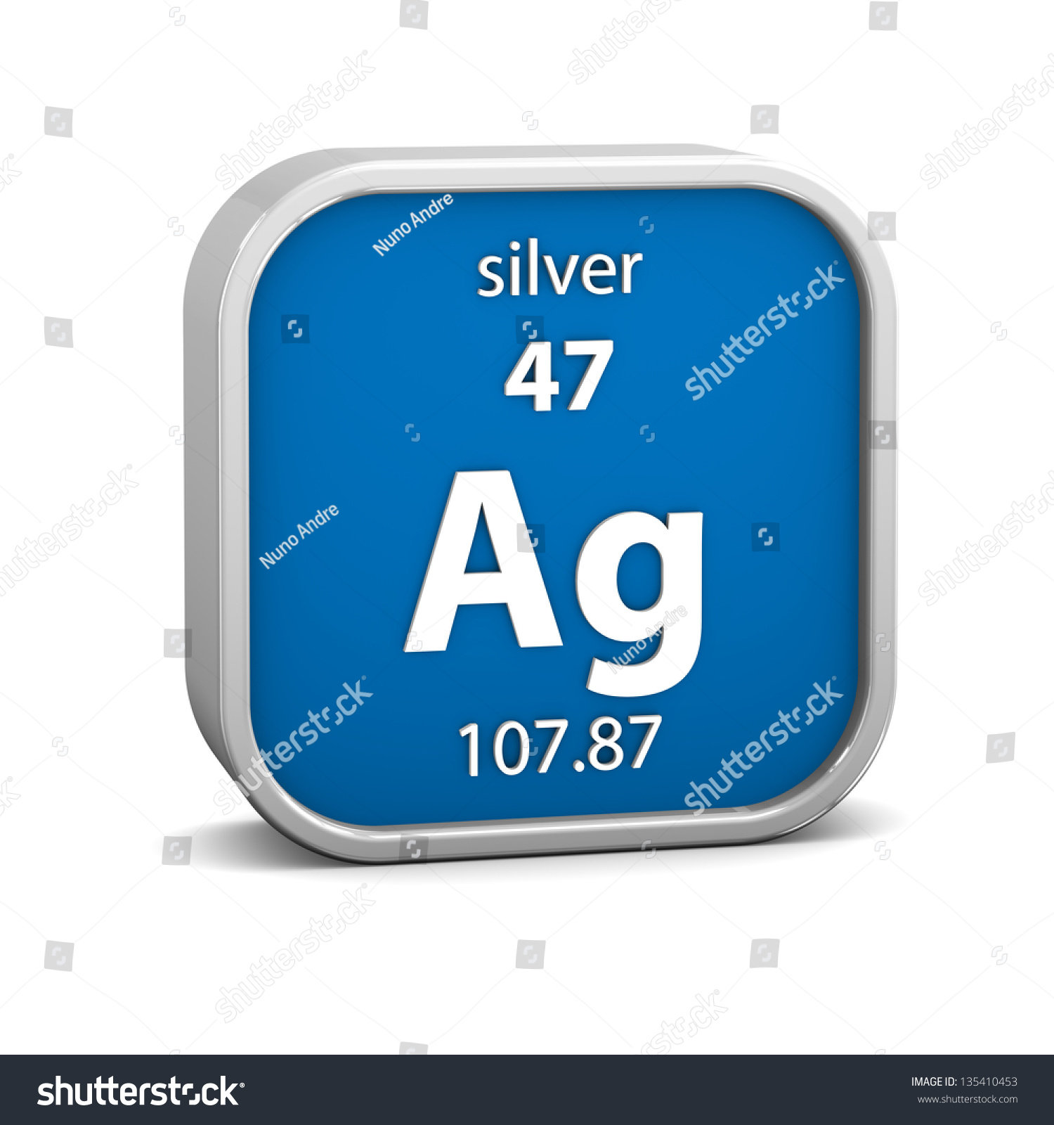 Silver material on periodic table part stock illustration silver material on the periodic table part of a series gamestrikefo Image collections