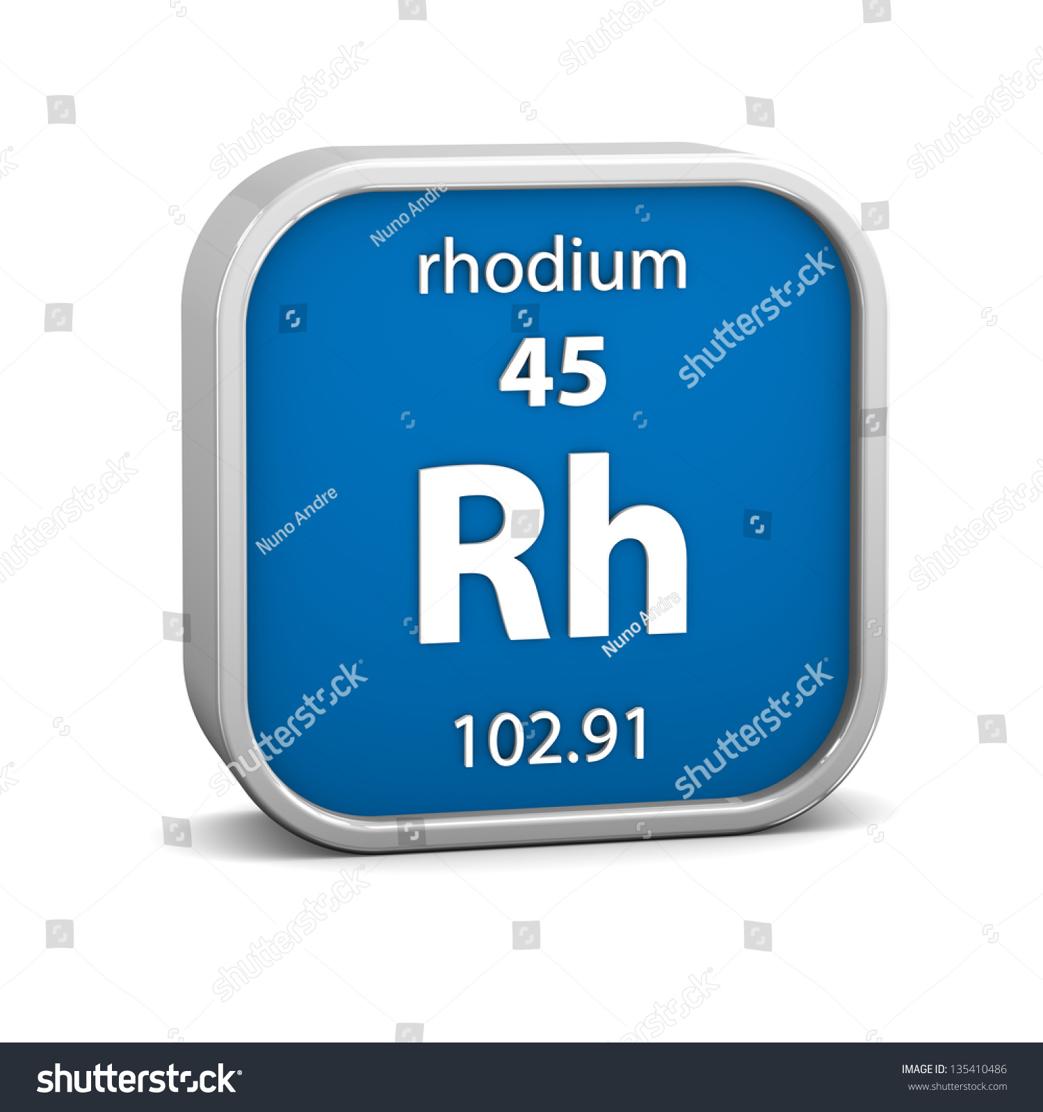 Rhodium material on periodic table part stock illustration rhodium material on the periodic table part of a series gamestrikefo Image collections