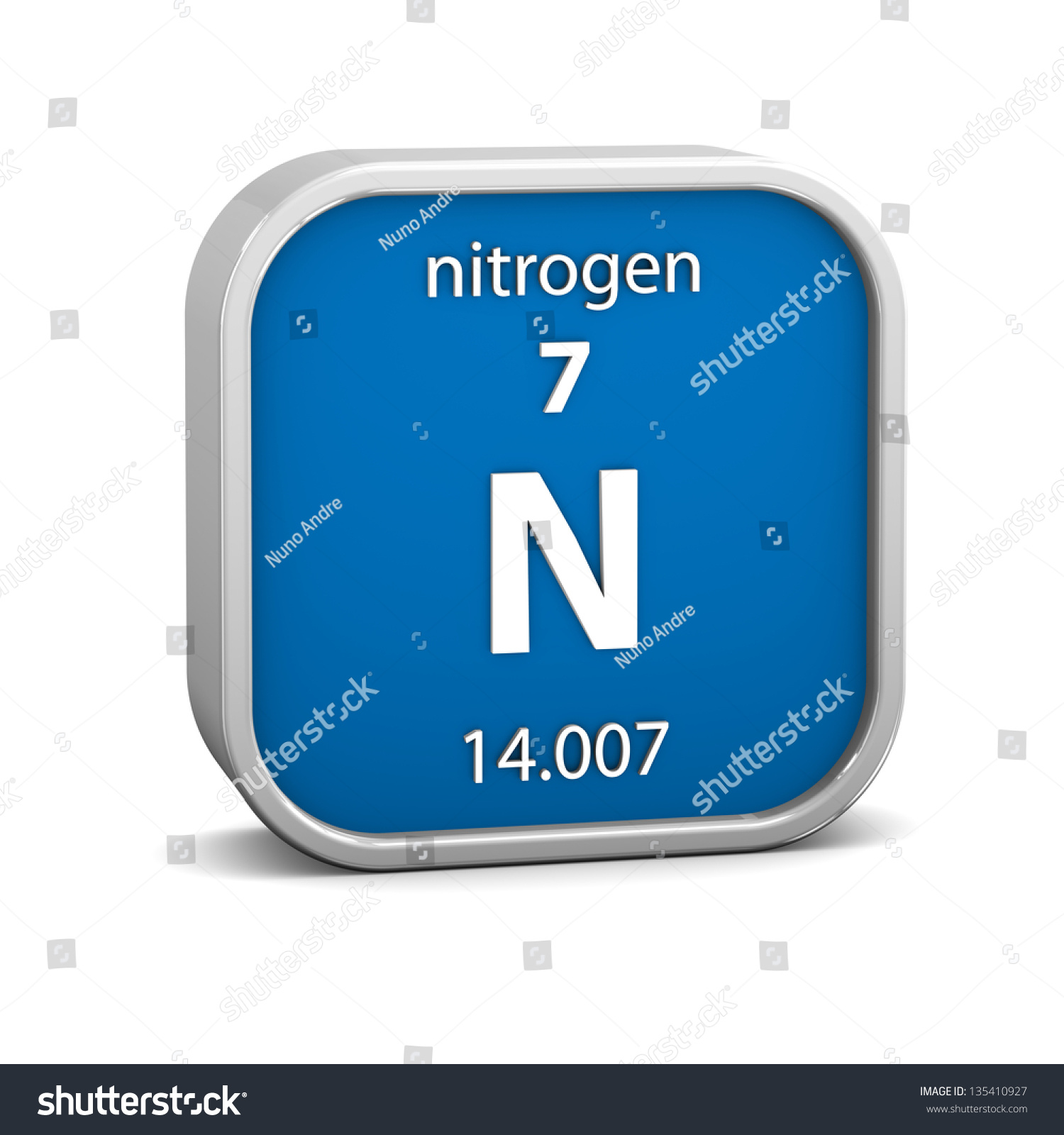 Nitrogen material on periodic table part stock illustration nitrogen material on the periodic table part of a series gamestrikefo Gallery