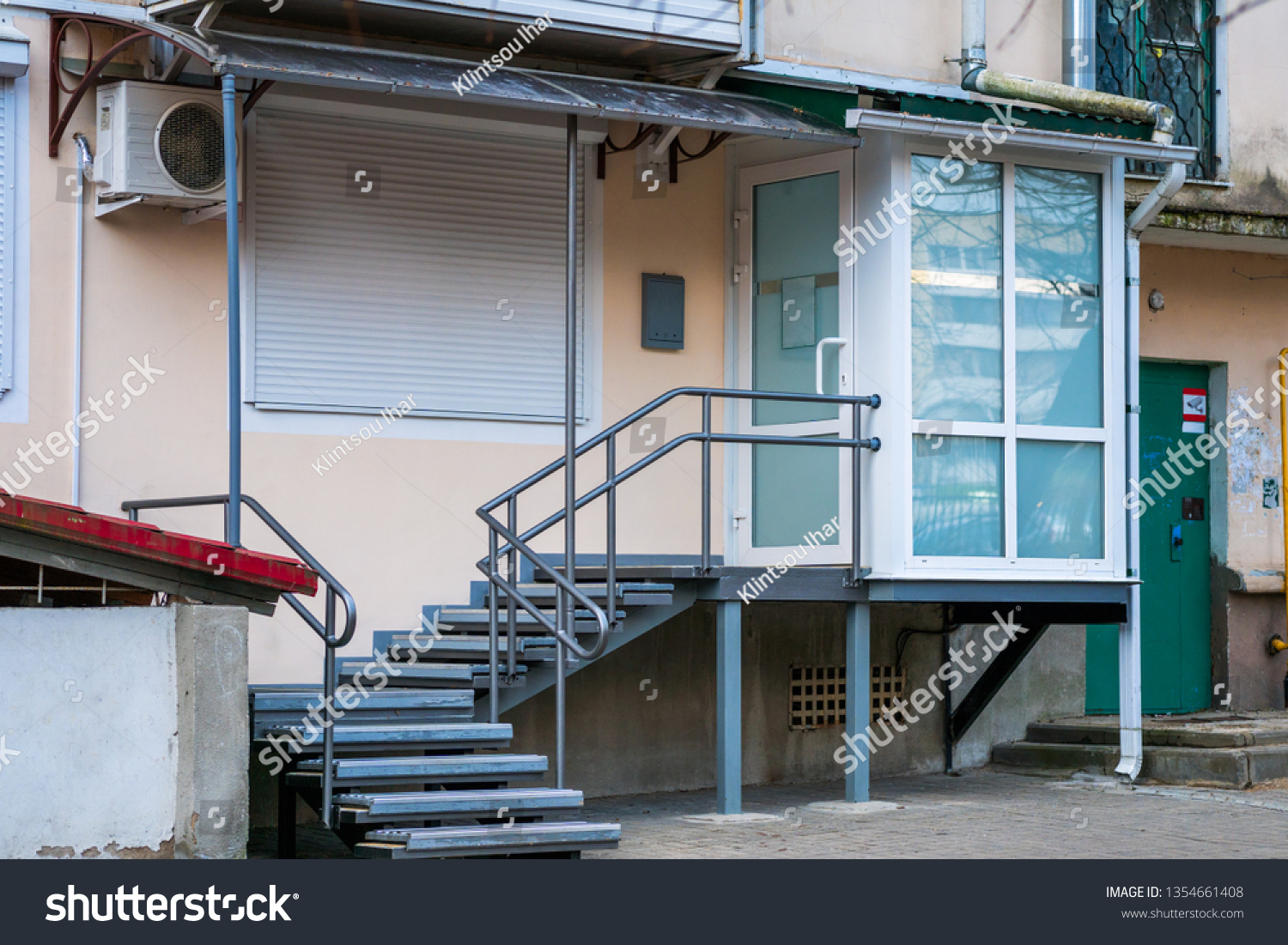 Design Entrance Small Office Ladder On Miscellaneous Stock Image 1354661408