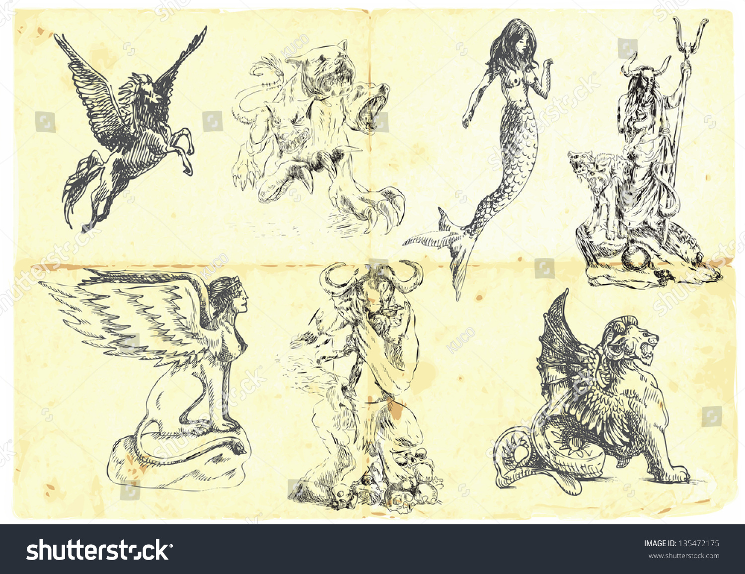 collection mythical characters known ancient greek stock