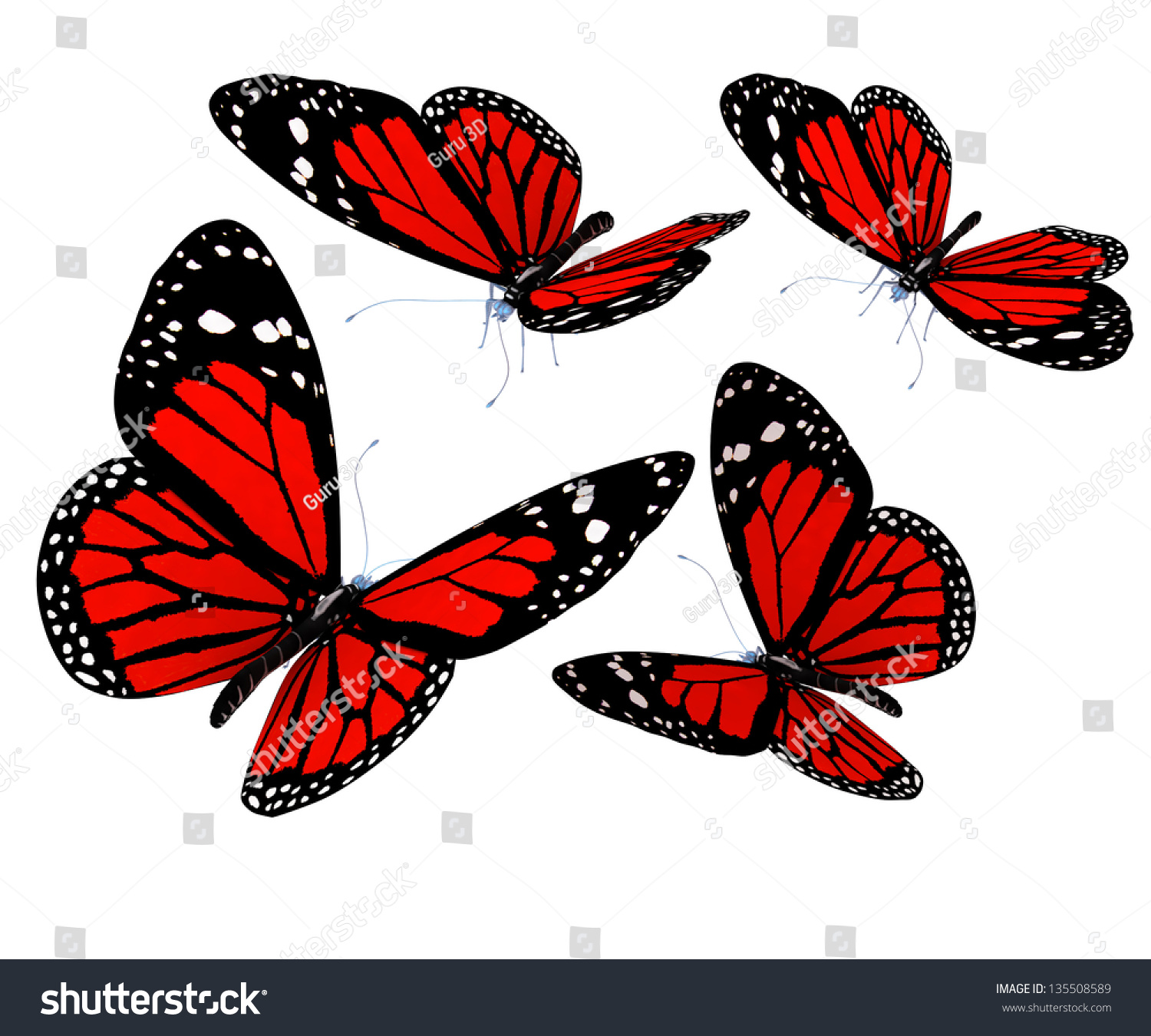 Red butterfly background - photo#27