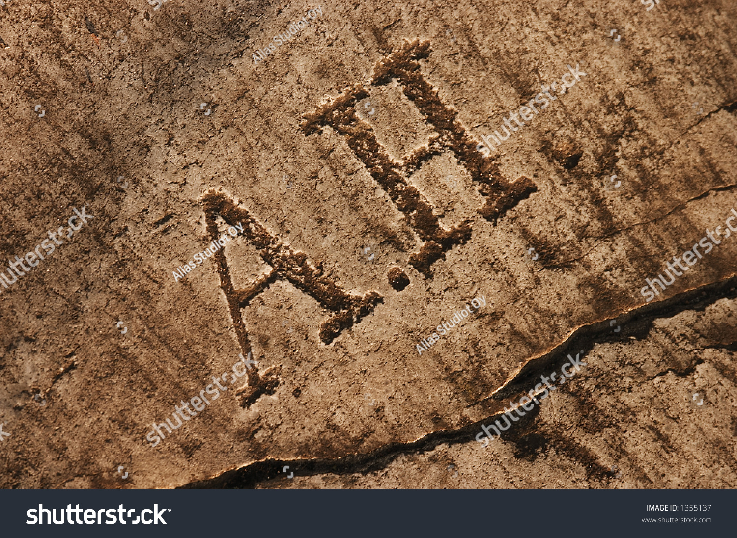 Ancient stone carving texture stock photo
