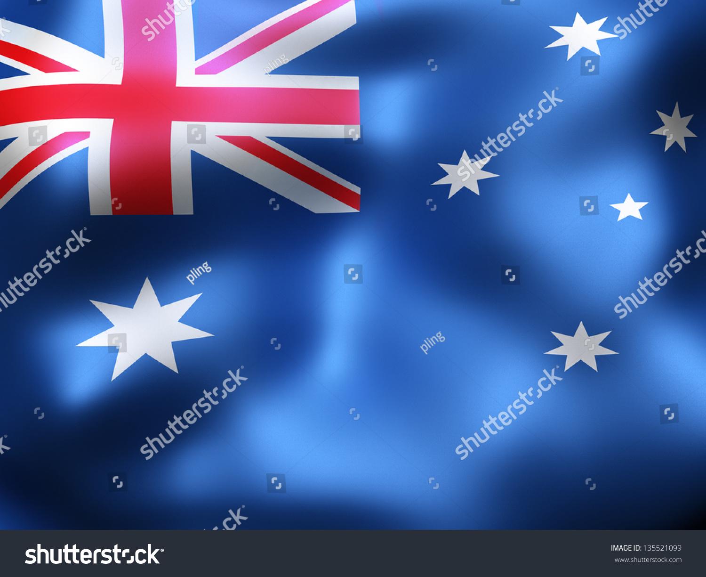 australia country flag 3d illustration stock illustration