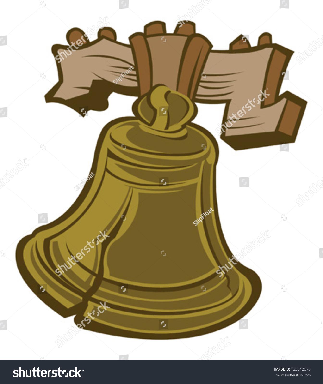 Liberty Bell Stock Vector Illustration 135542675 : Shutterstock