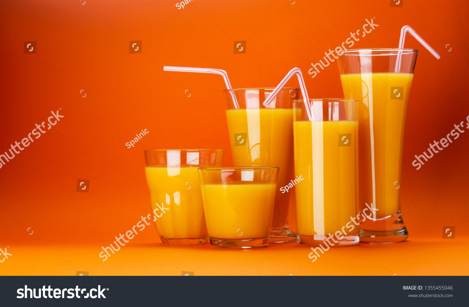 Glasses Orange Juice Isolated On Colour Stock Photo Edit Now 1355455046,What Colour Is Orange And Blue
