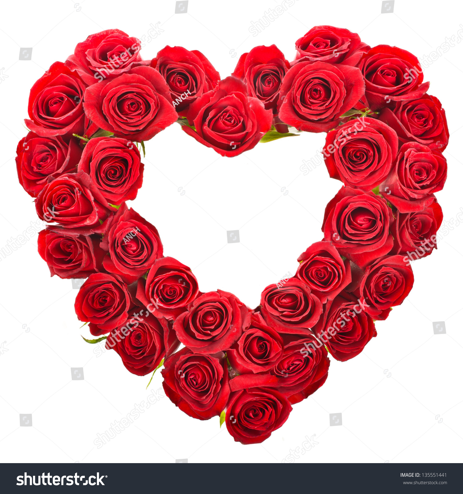 Heart Shaped Bouquet Red Roses Isolated Stock Photo (Edit Now ...
