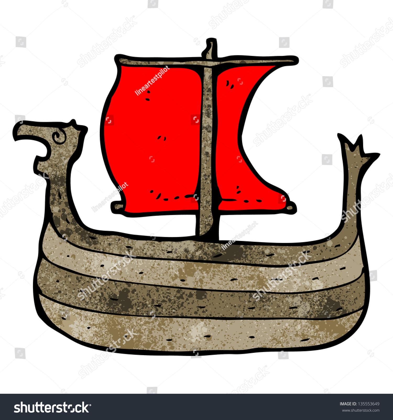 viking ship cartoon stock illustration 135553649 shutterstock