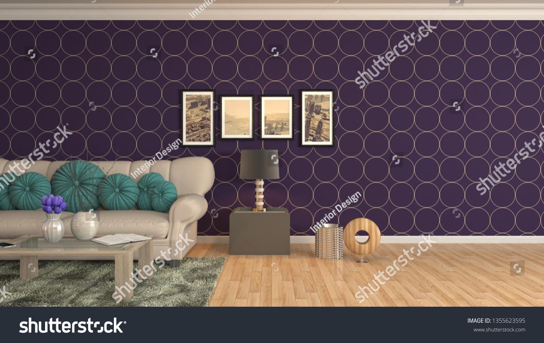 Interior Living Room 3d Illustration ...