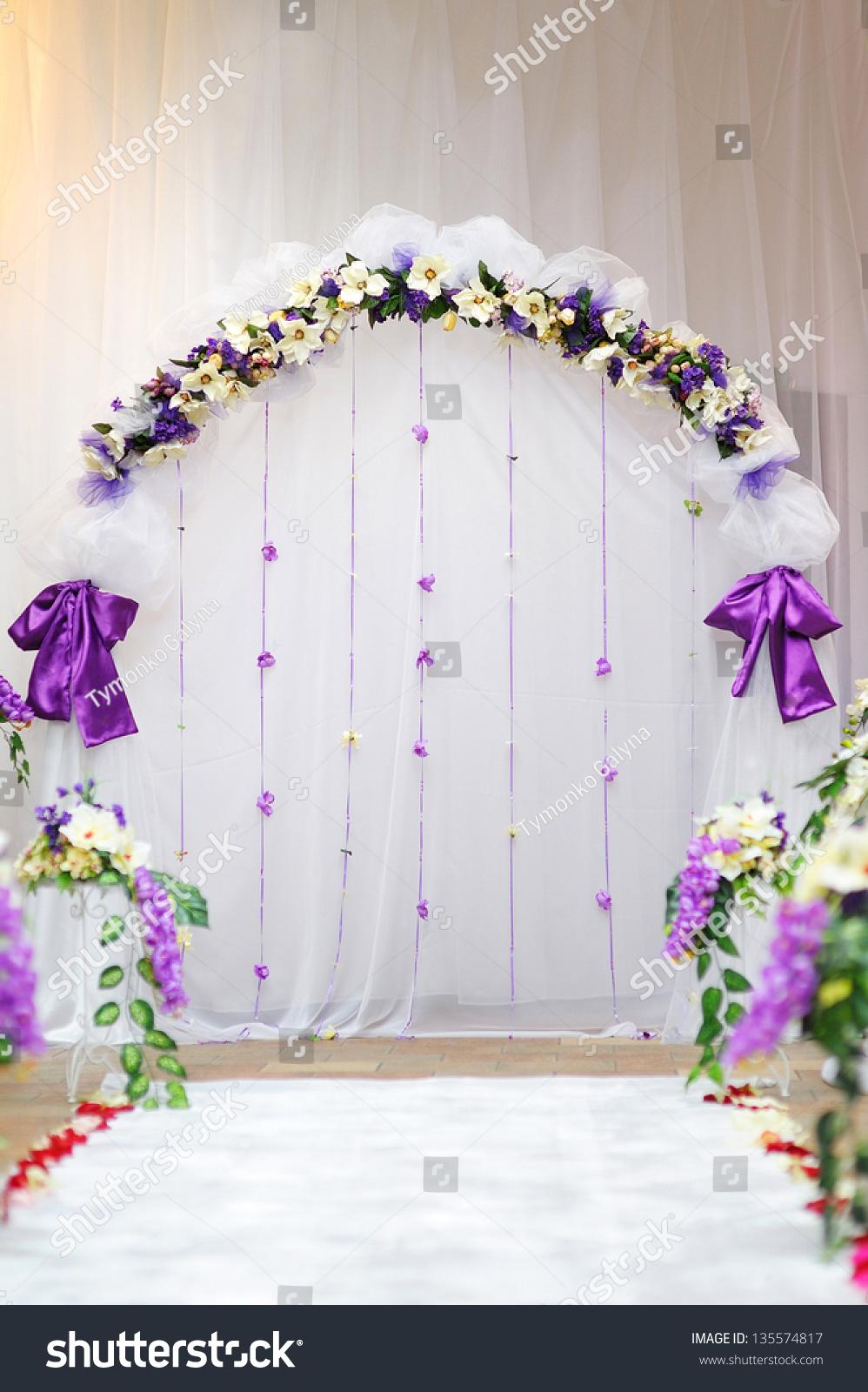 Wedding Arch Purple Decor Stock Photo & Image (Royalty-Free ...