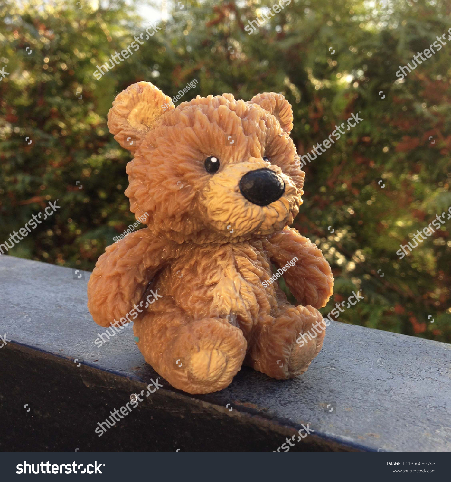 Photo Bear Toy Sits On Background Stock Photo Edit Now 1356096743