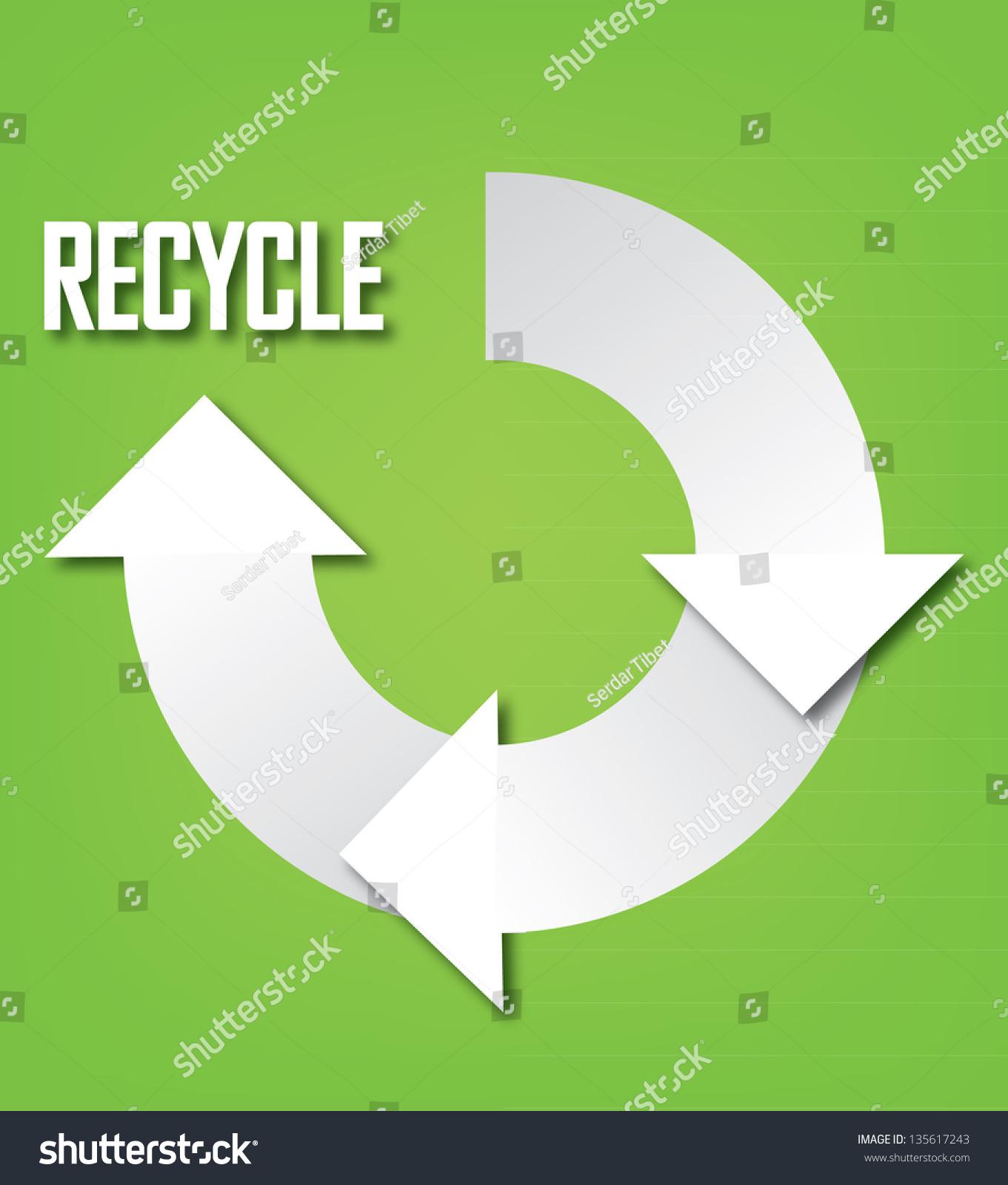 Recycle symbol isolated on white background stock vector 135617243 recycle symbol isolated on white background vector illustration buycottarizona Choice Image