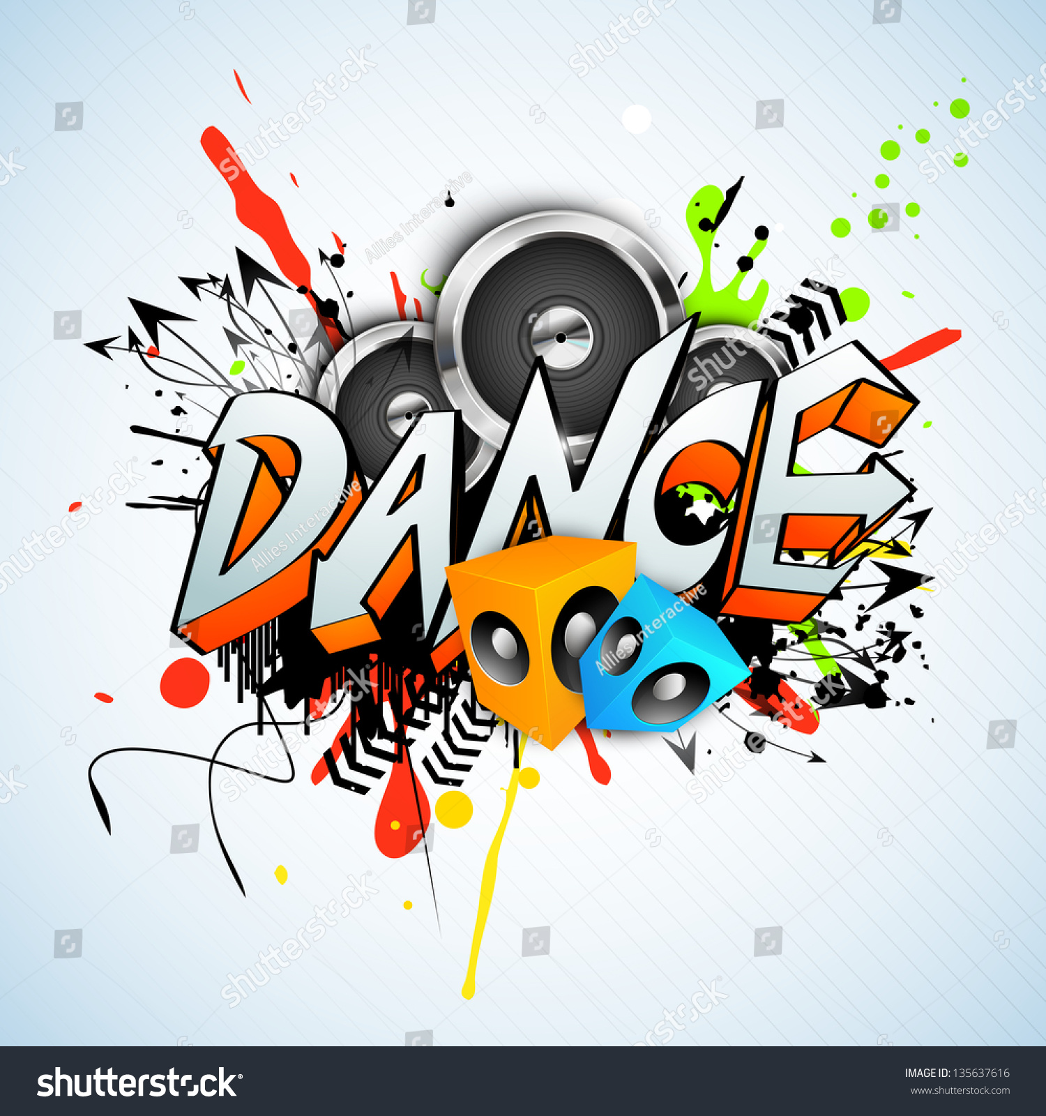 Musical Dance Party Background Flyer Banner Stock Vector Royalty Free 135637616