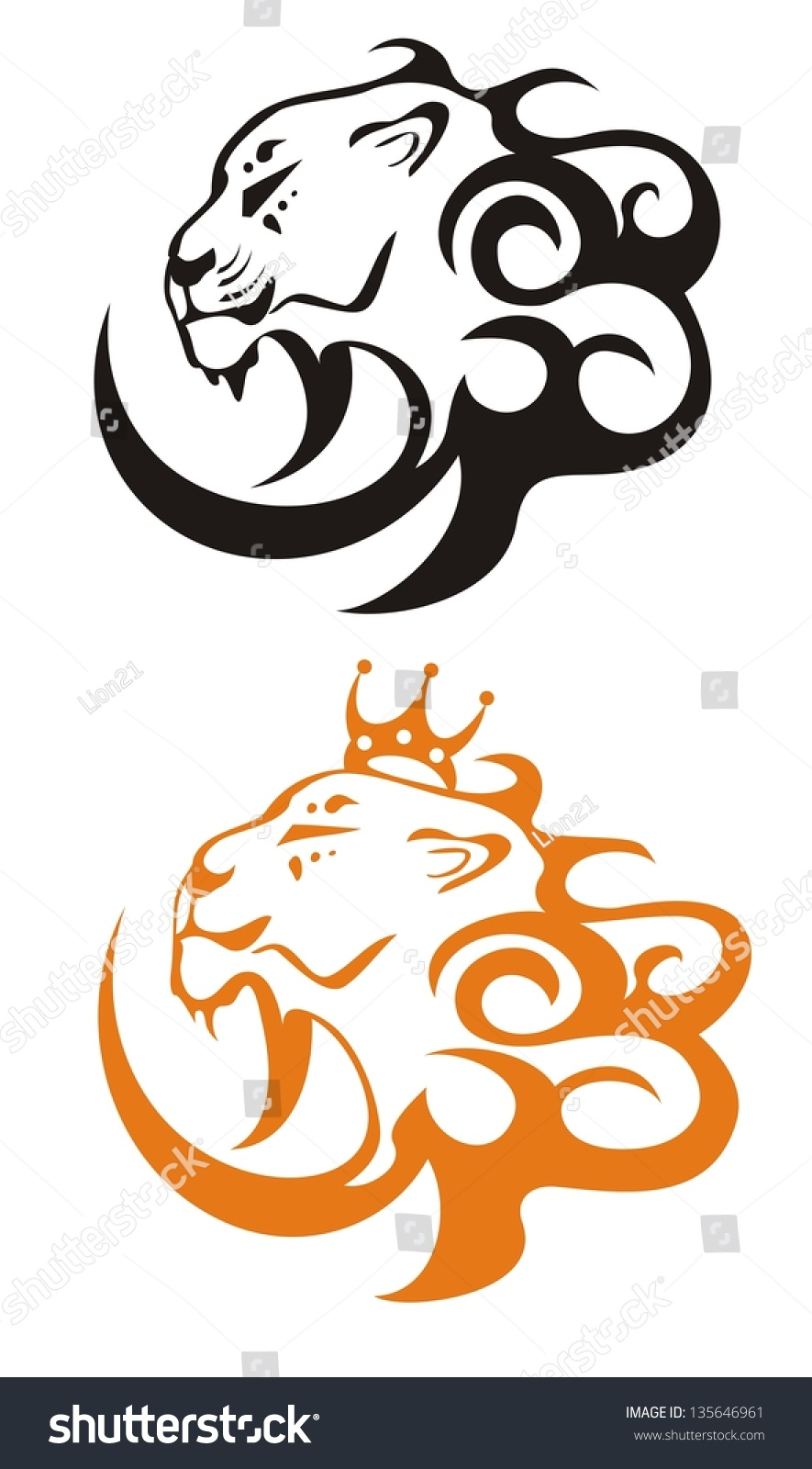 Lion king vector lion symbols stock vector 135646961 shutterstock lion king vector lion symbols biocorpaavc Gallery