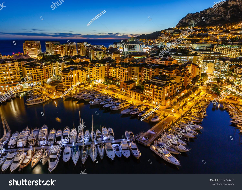 Aerial View On Fontvieille Monaco Harbor Stock Photo 135652697 Shutterstock