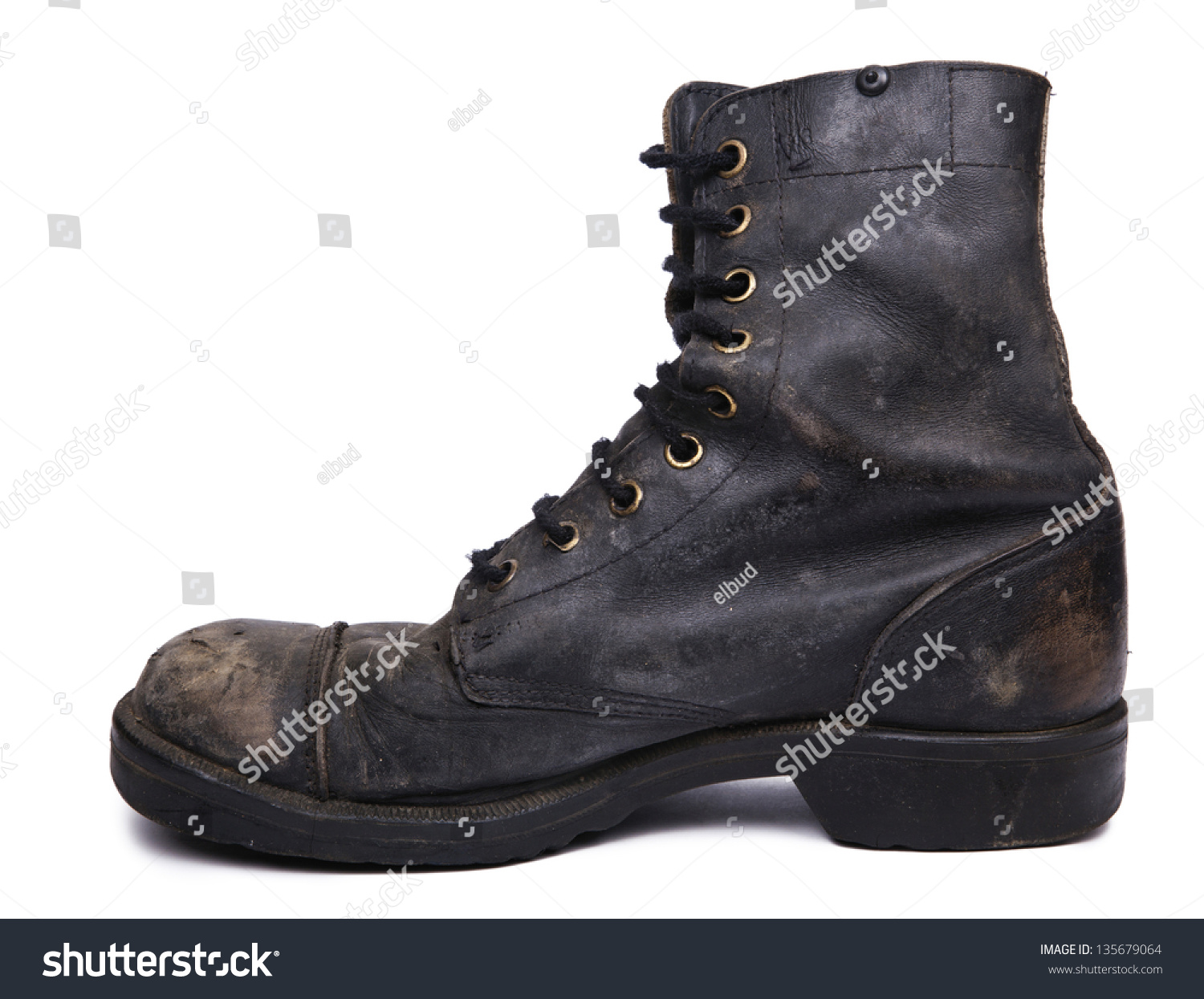 Side View Very Worn Right Boot Stock Photo 135679064 - Shutterstock