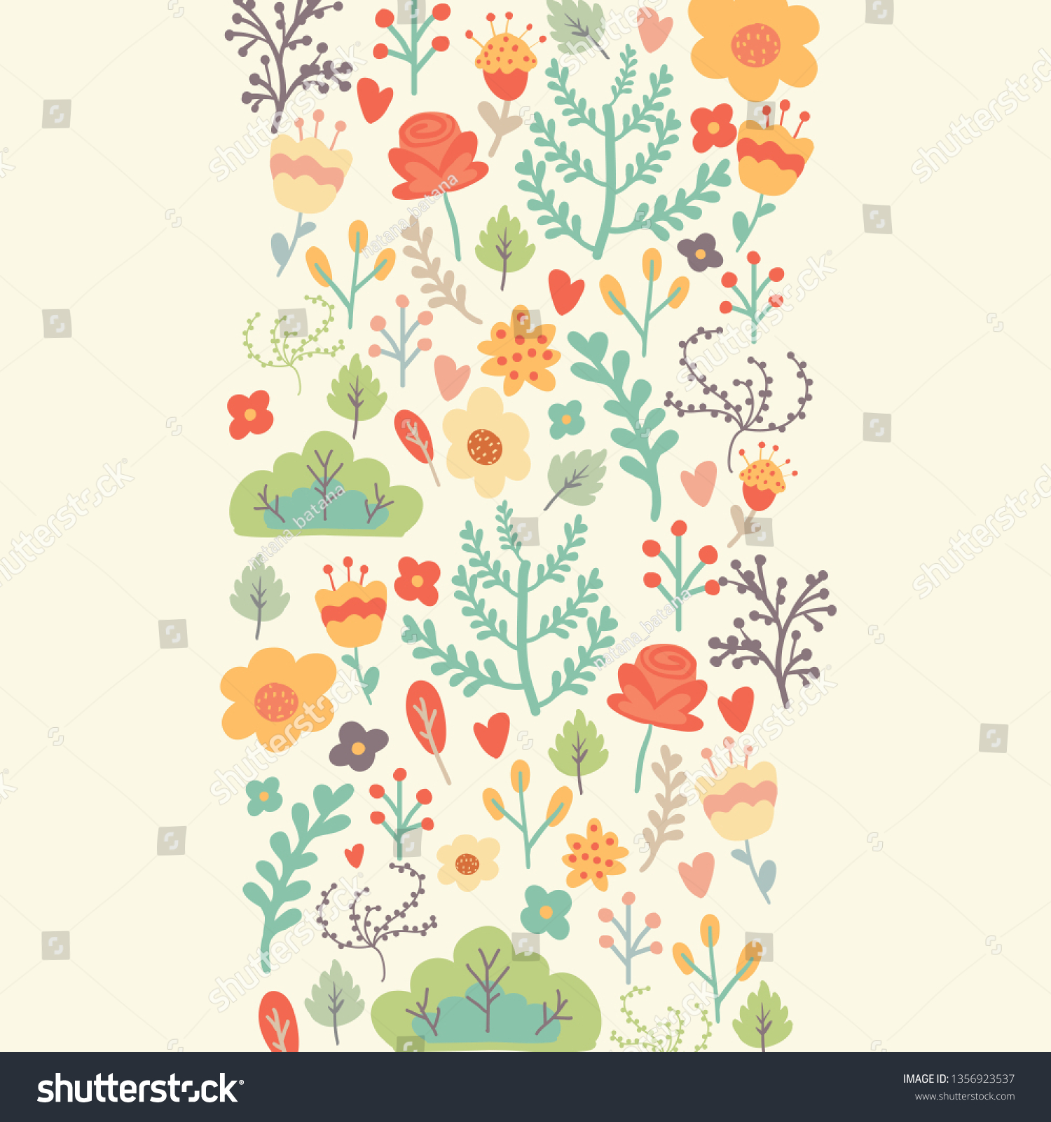 Templates Abstract Grunge Floral Background With Spring Flowers
