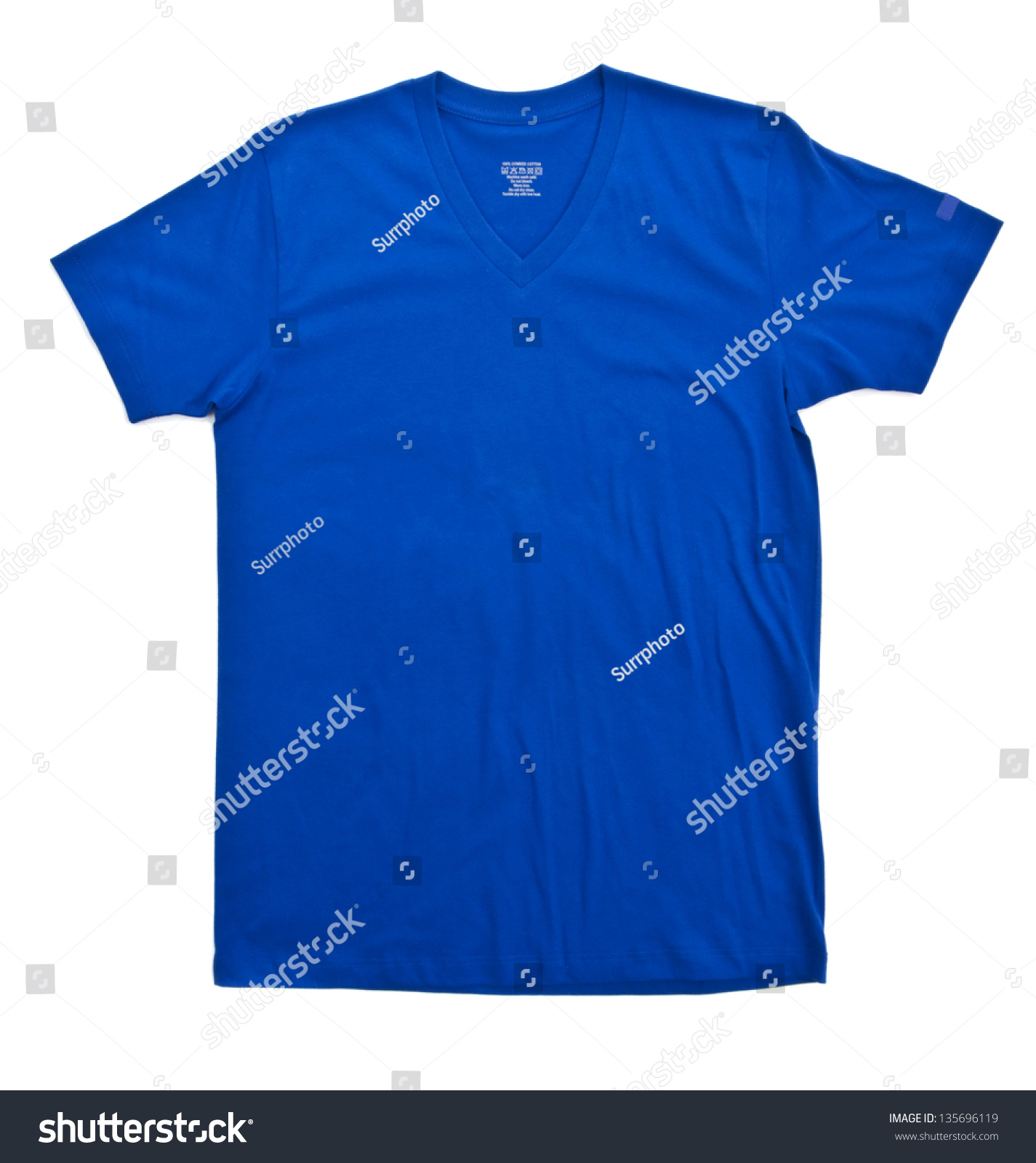 Blue tshirt template ready for your own graphics stock for Blue t shirt template