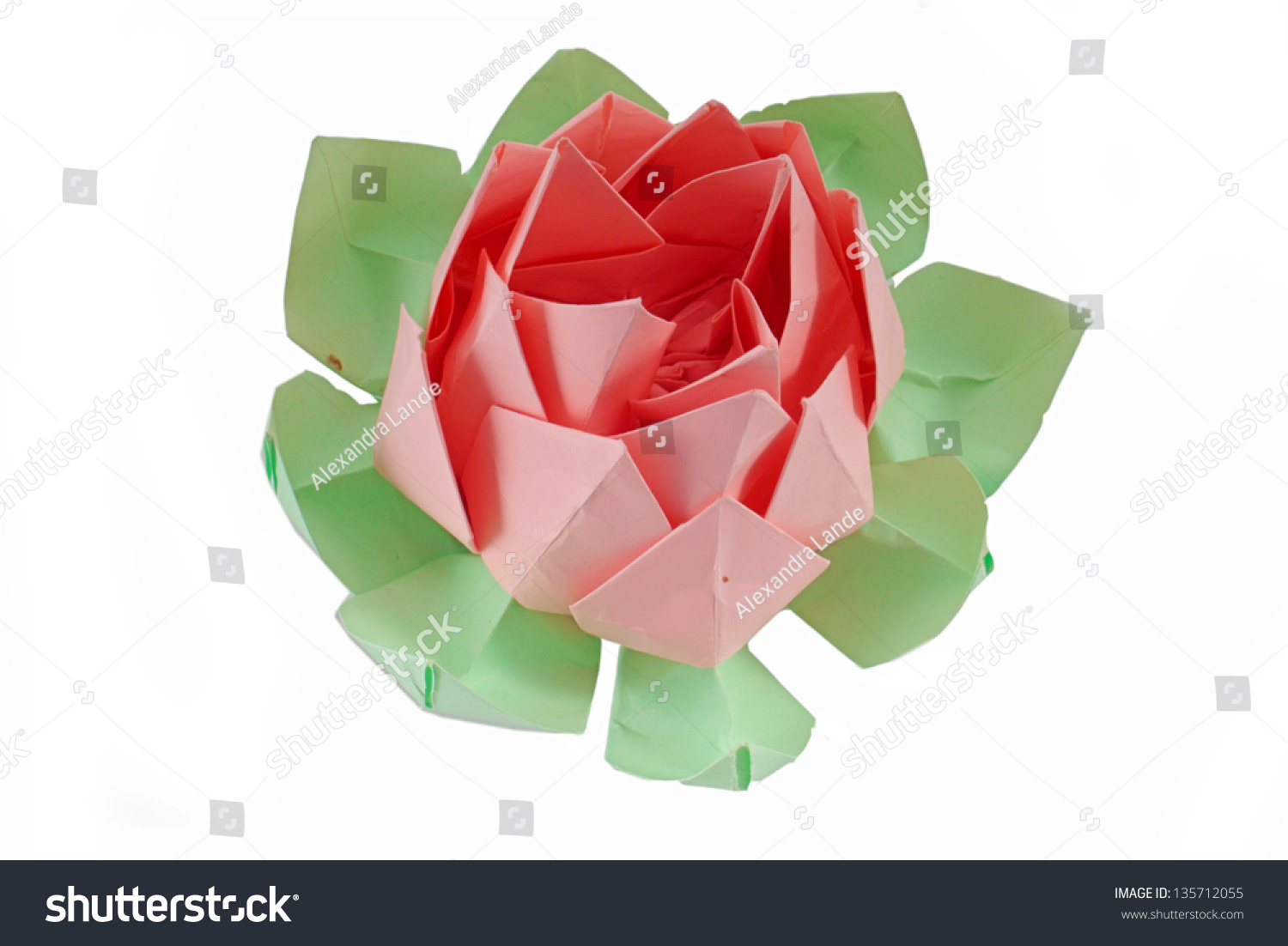Origami Lotus Flower Stock Photo Safe To Use 135712055 Shutterstock
