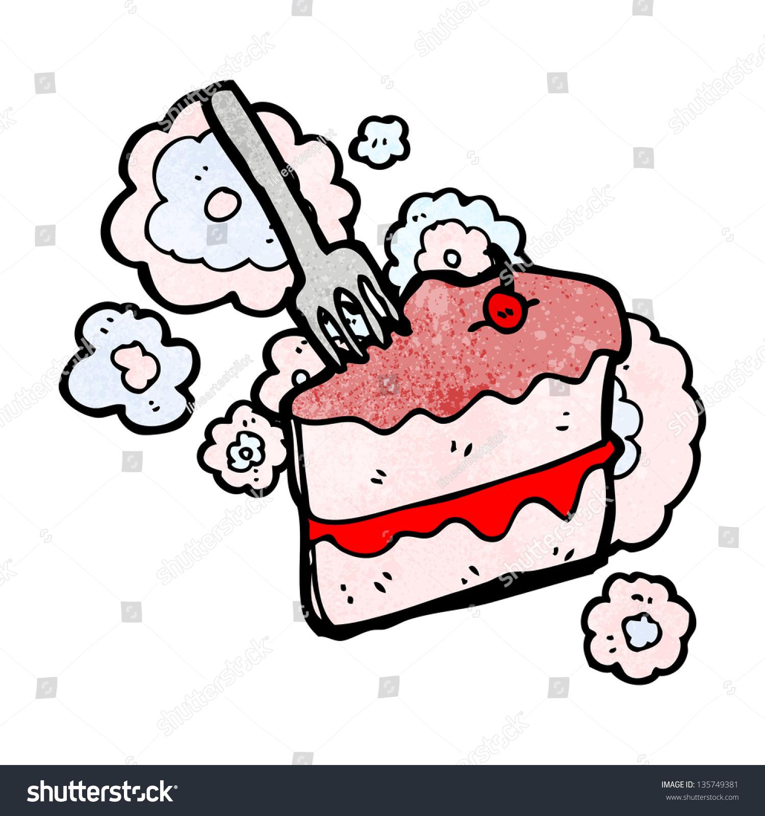 Cartoon Slice Cake Stock Illustration 135749381 - Shutterstock
