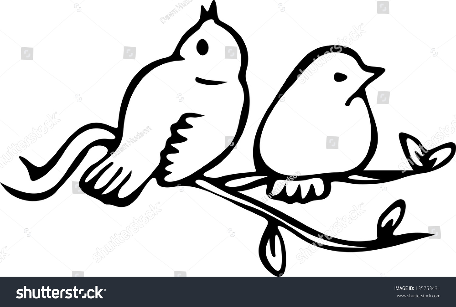 Simple Black And White Line Art : Simple black white line drawing two stock illustration