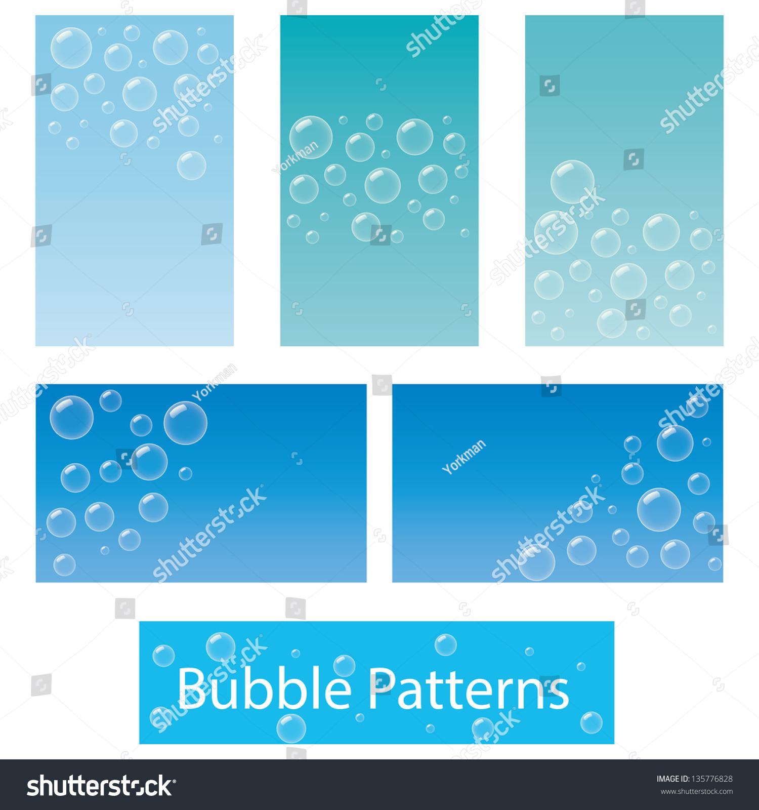Five Business Card Background Designs Based Stock Vector 135776828 ...