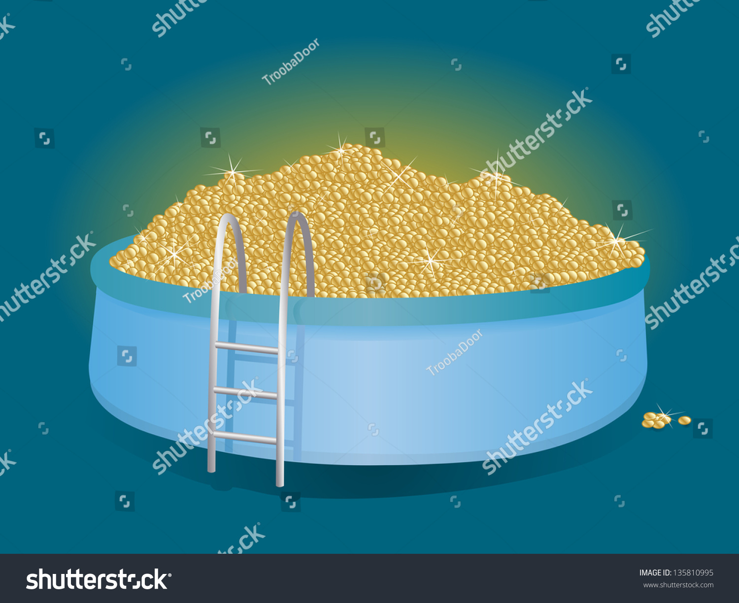 Mountain of gold coins