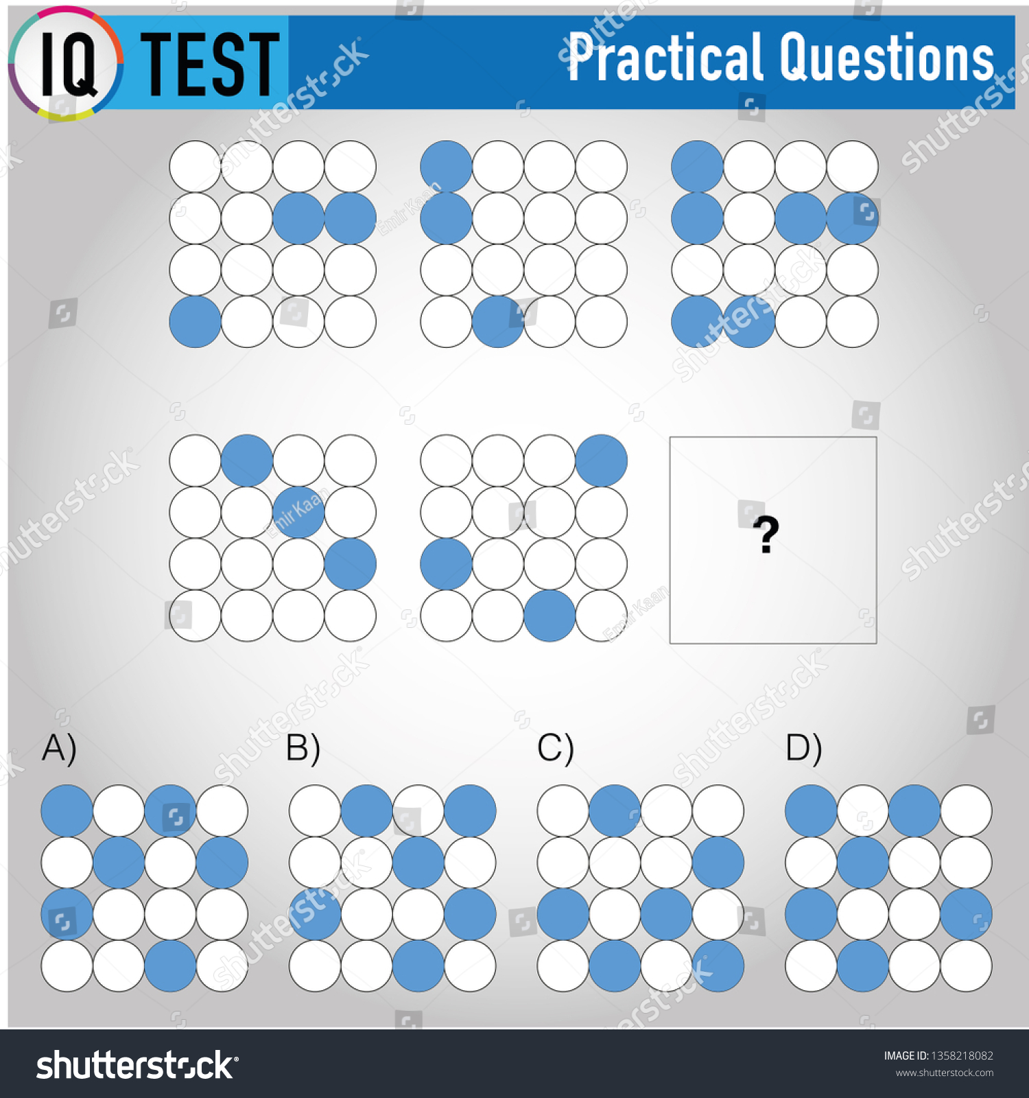 Iq Test Practical Questions Stock Vector (Royalty Free
