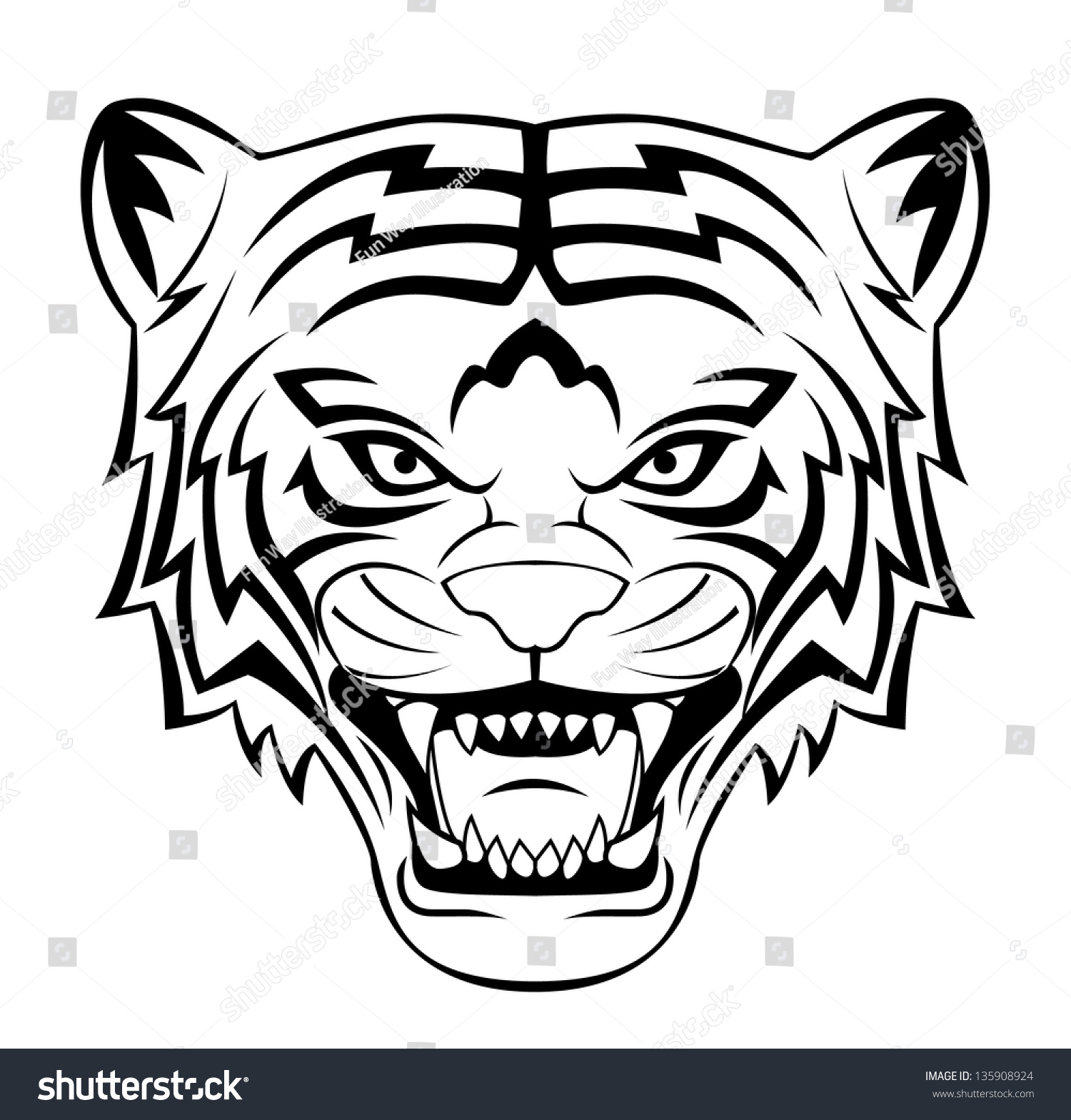 Tiger roar vector - photo#6