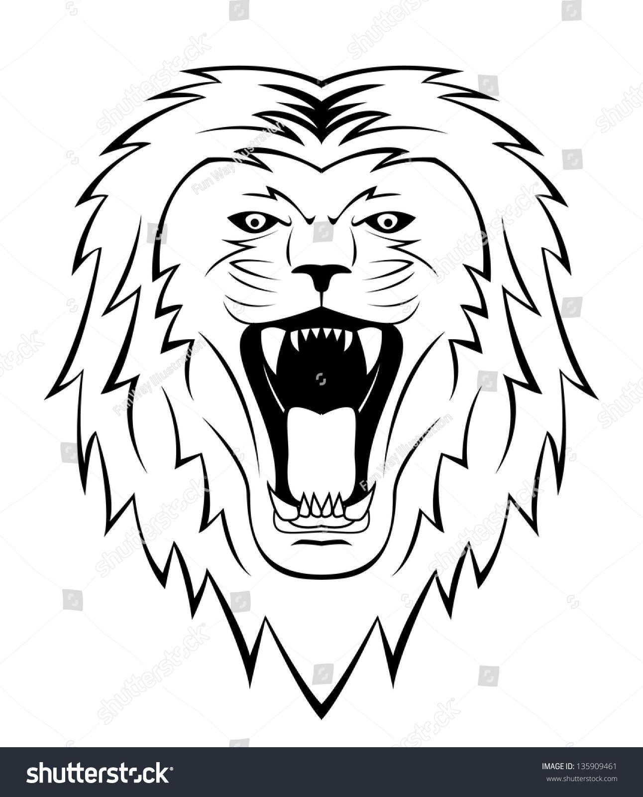Royalty-free Lion roar #135909461 Stock Photo   Avopix.com - photo#43