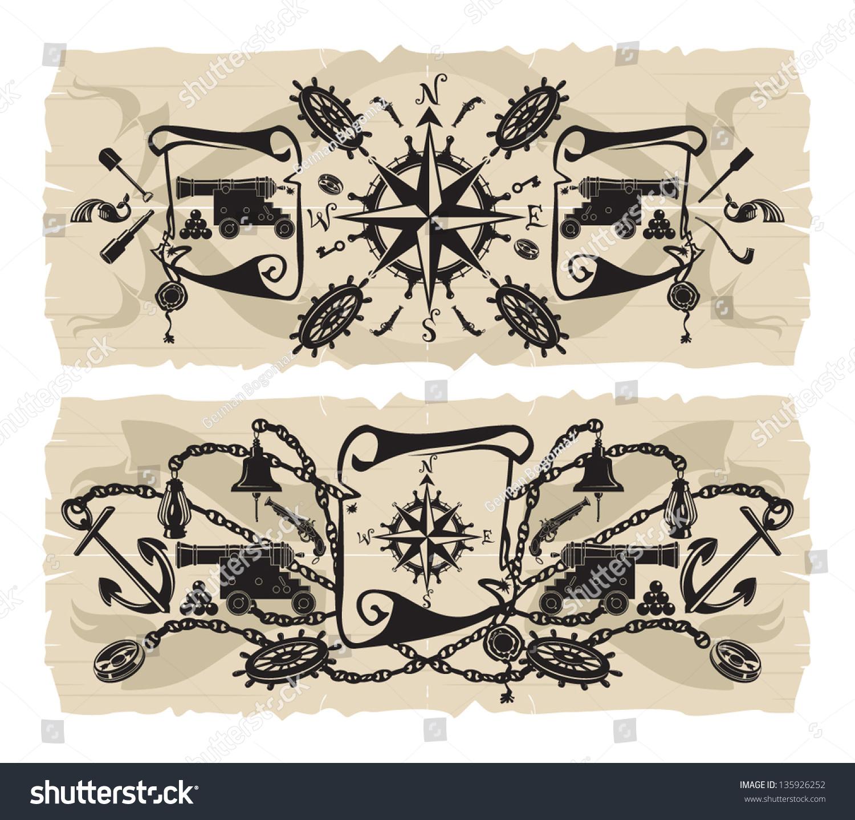 book pirate frames 2 vector stock vector 135926252 shutterstock