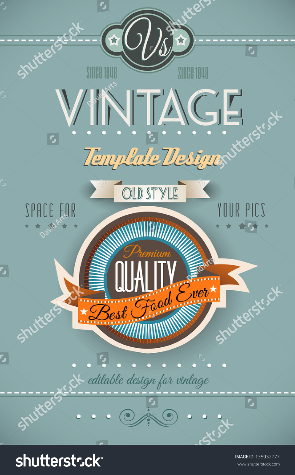 Vintage Style Book Cover : Vintage retro page template variety purposes stock
