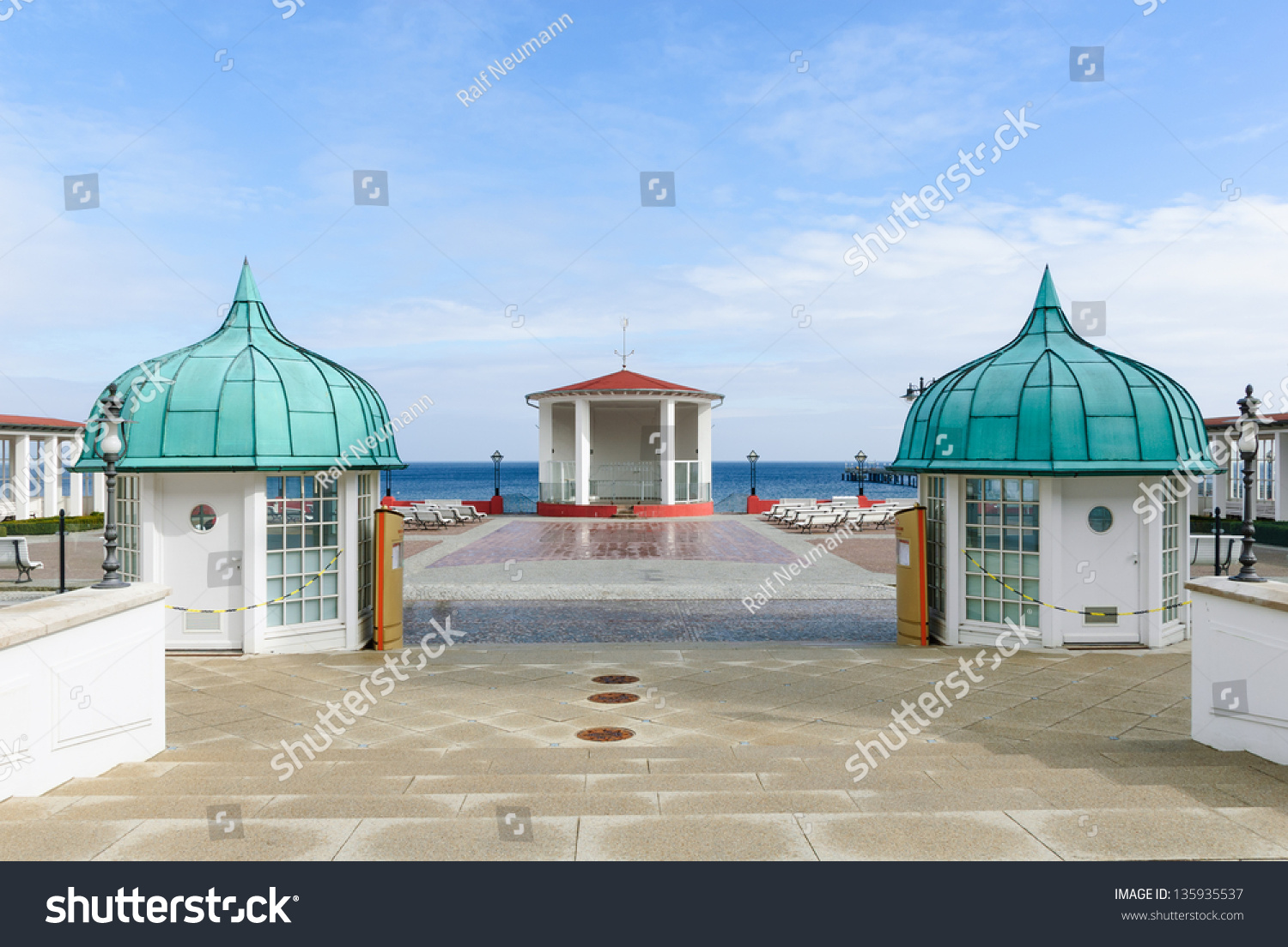 Square Spa Resort Binz Pavilion Benches Stock Photo 135935537 ...