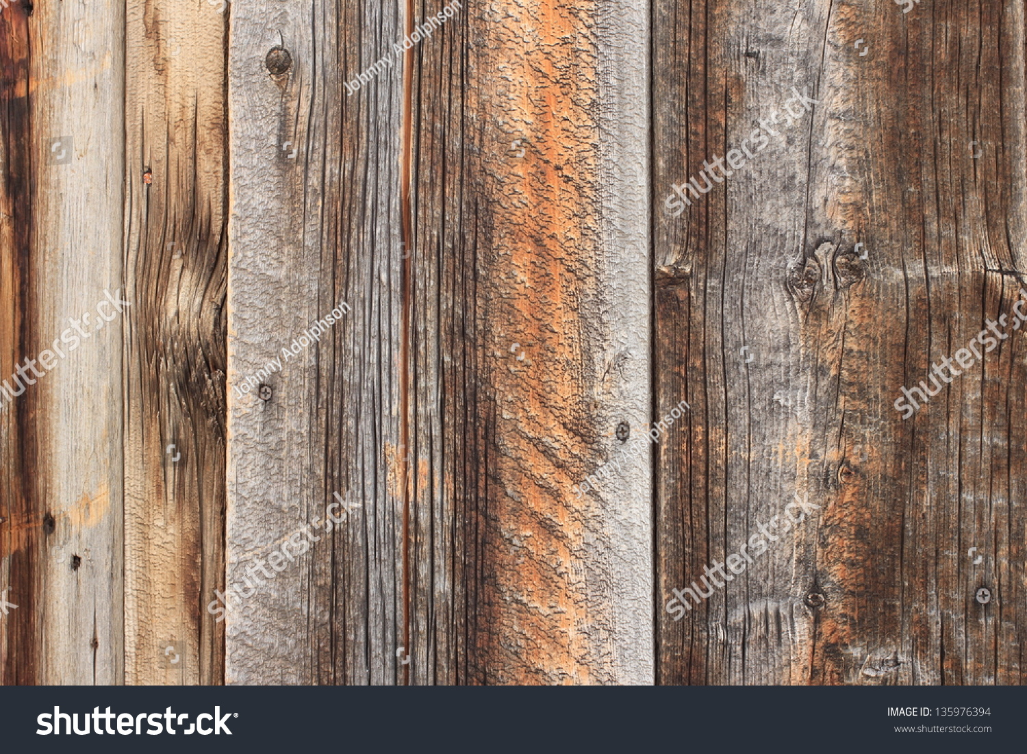 Rustic Aged Barn Wood Background Stock Photo 135976394