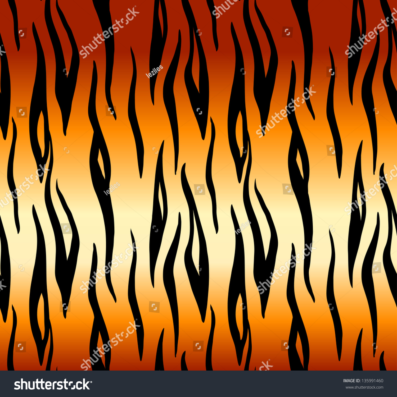 tiger print seamless pattern stock vector 135991460 shutterstock
