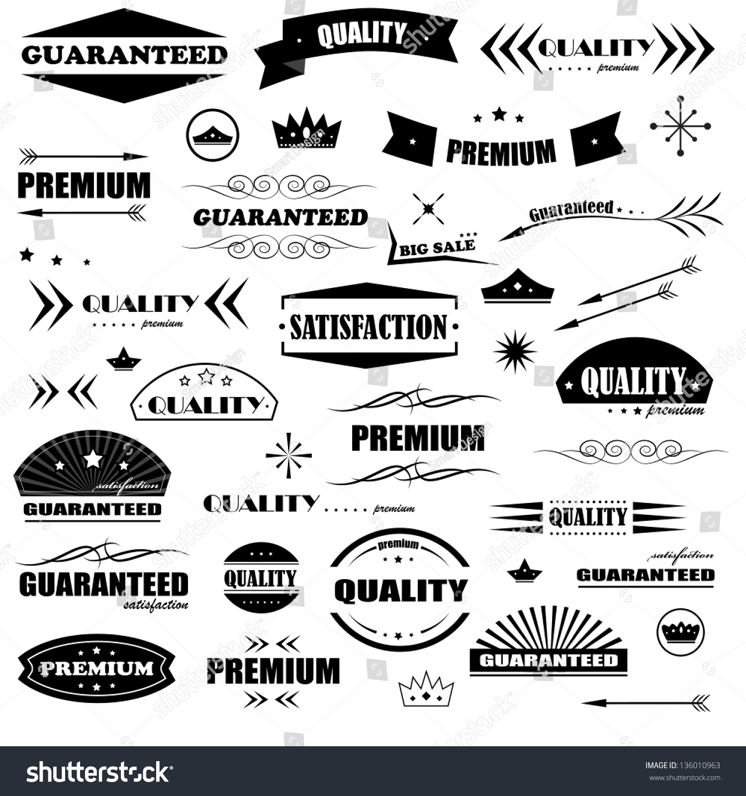Vintage Design Elements Labels Retro Vintage Stock Vector ...