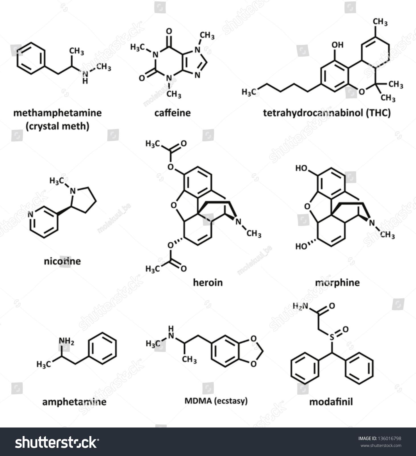 Recreational Drugs Methamphetamine Crystal Meth Caffeine