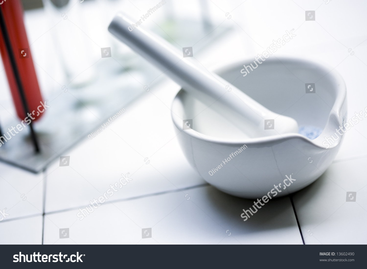 Chemical Laboratory Utensils Background Mortar Pestle Stock Photo ... for Laboratory Mortar And Pestle  174mzq