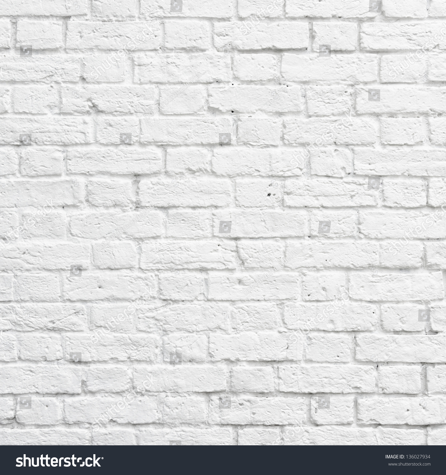 white brick wall texture or background stock photo 136027934 shutterstock. Black Bedroom Furniture Sets. Home Design Ideas