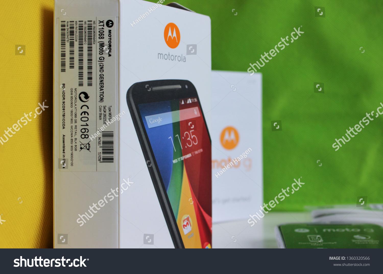 Motorola Xt1068 Moto G 2nd Generation Stock Photo (Edit Now