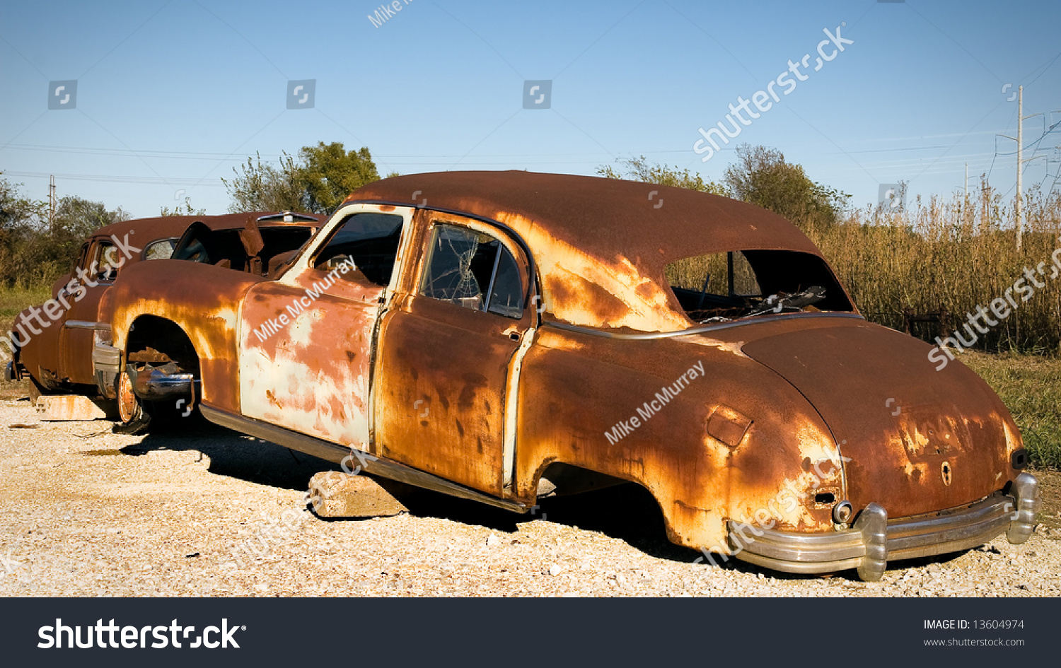 Rusty Old Car On Blocks Stock Photo 13604974 : Shutterstock