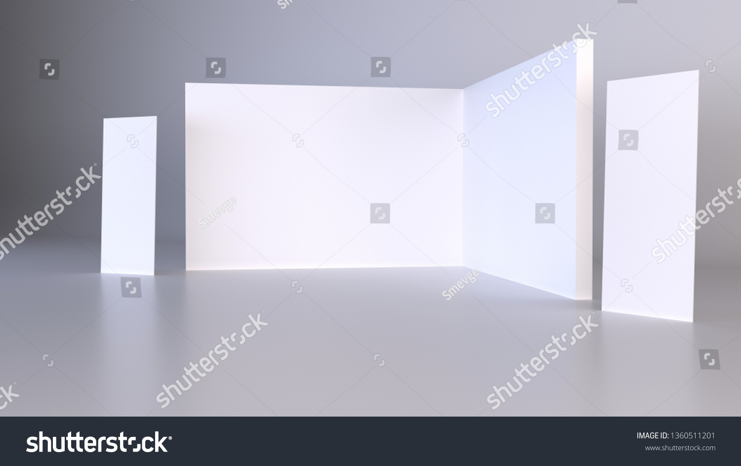 Exhibition Stand Roll Up : Royalty free stock illustration of blank trade show booth roll