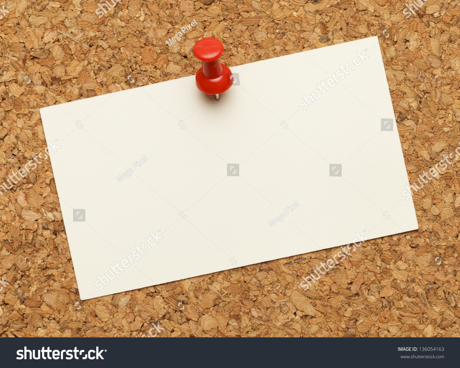 Business Card Posted On Cork Board Stock Photo (100% Legal ...
