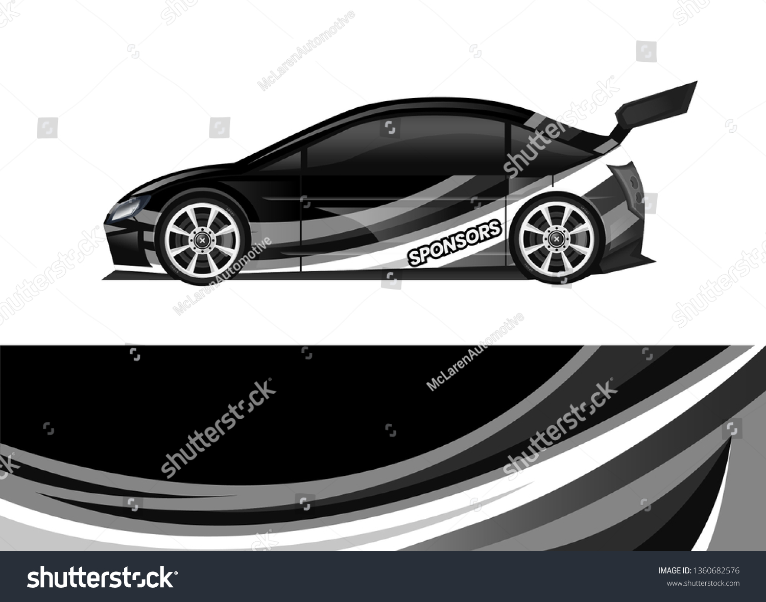 Car decal wrap design template vector illustration background abstract stripe racing sport graphic designs kit