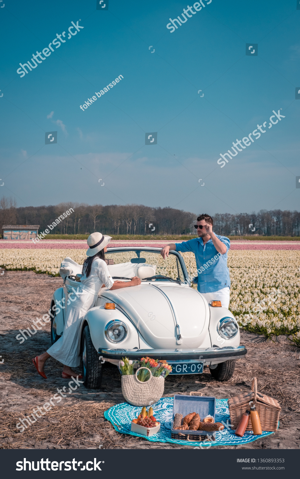 Lisse Netherlands April 2019 Classic White Stock Photo Edit Now 1360893353