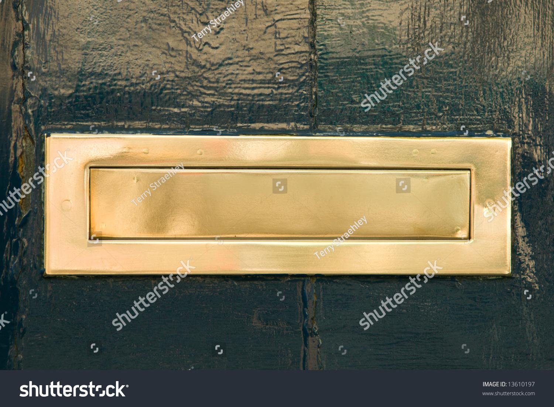 A Brass Mail Slot on a Green Door & Brass Mail Slot On Green Door Stock Photo 13610197 - Shutterstock pezcame.com