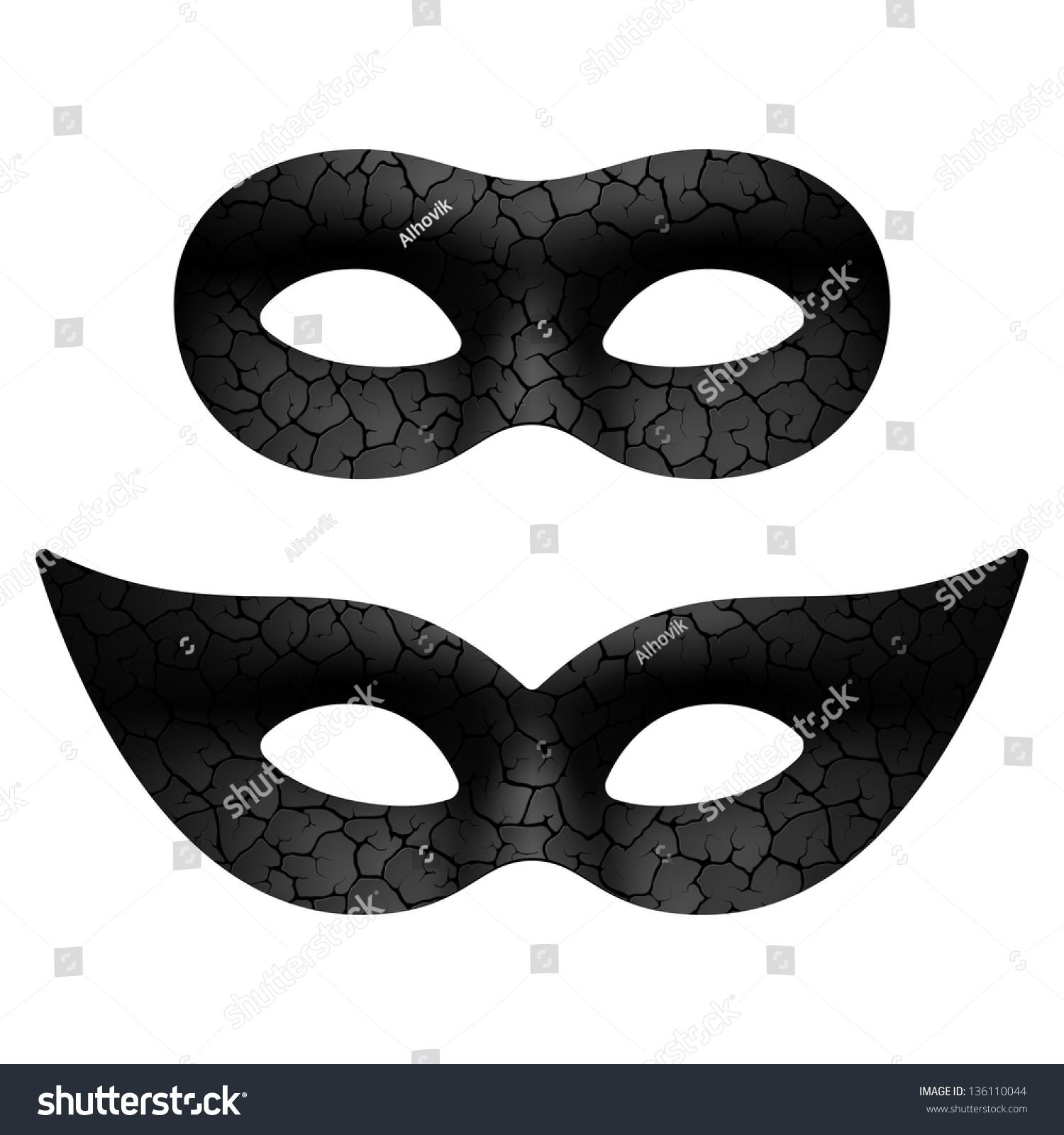 Masquerade Eye Mask. Vector. - 136110044 : Shutterstock  Masquerade Mask Vector
