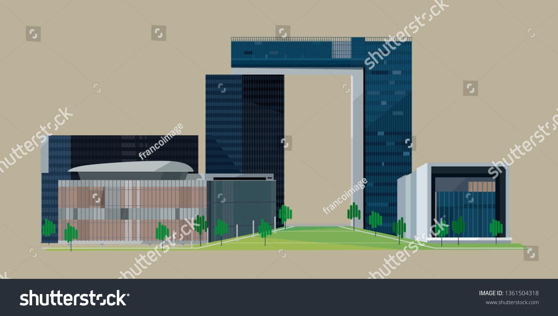 Hong Kong 6 April 2019 Graphic Stock Vector (Royalty Free